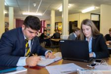 Sixth Formers Hard at Work in the Library