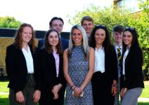 Hope Virgo with year 12 students