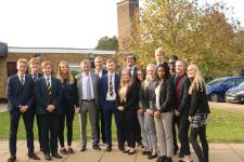 David Dein visits TBSHS 6th form for the 2nd time. October 2019