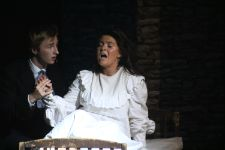 Fantine on her deathbed. Played by Sadie Kightley