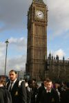 Year 10s outside Houses of Parliament