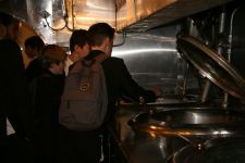 HMS Belfast checking the food