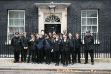 On the steps of 10 Downing Street