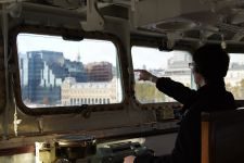 On the Bridge of HMS Belfast