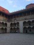 Italian-style architecture of the central courtyard of the Castle