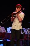 Eli Haines (Yr 10) helps out on Trombone