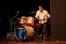 Chris Senior shows how a drum kit should be played